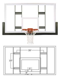 Official Conversion Glass Basketball Backboard