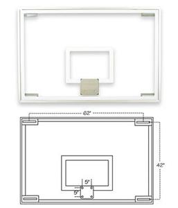 FT236 Competition Glass Basketball Backboard