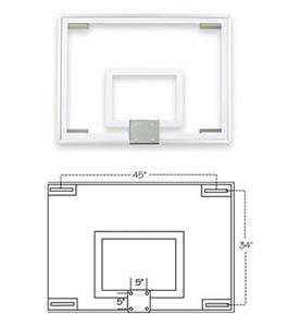 FT231 Gymnasium Glass Basketball Backboard