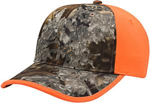 Richardson Blaze/Camo Front Adjustable Caps