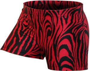 Gem Gear Red Compression Zebra Prints Shorts