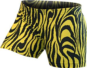Gem Gear Yellow Compression Zebra Prints Shorts