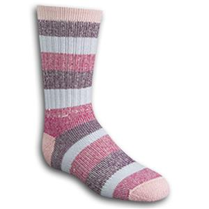 Wigwam Youth Pink Lil&#39; Rascal Crew Length Socks