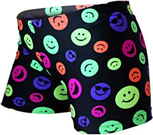 Gem Gear Compression Happy Face Prints Shorts