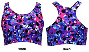 Gem Gear Droplets Racer Back Sports Bra