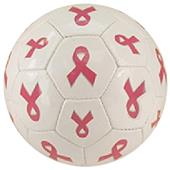 Red Lion Pink Ribbon Cancer Awareness Soccer Balls