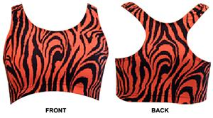 Gem Gear Orange Zebra Racer Back Sports Bra