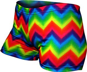 Gem Gear Tie Dye Compression Zig Zag Print Shorts