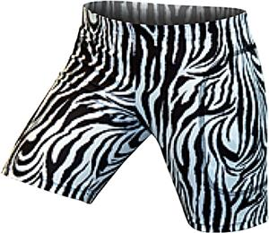"Gem Gear Blk/White Zebra Softball Slider 5"" Inseam"