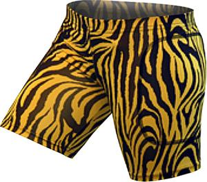 Gem Gear Gold Zebra Softball Slider 5&quot; Inseam