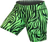 "Gem Gear Green Zebra Softball Slider 5"" Inseam"