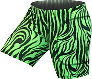 Gem Gear Green Zebra Softball Slider 5&quot; Inseam