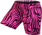 "Gem Gear Pink Zebra Softball Slider 5"" Inseam"