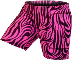 Gem Gear Pink Zebra Softball Slider 5&quot; Inseam