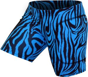 "Gem Gear Turquoise Zebra Softball Slider 5"" Inseam"