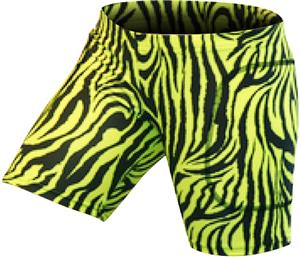 Gem Gear Yellow Zebra Softball Slider 5&quot; Inseam