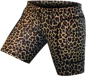 "Gem Gear Brown Leopard Softball Slider 5"" Inseam"