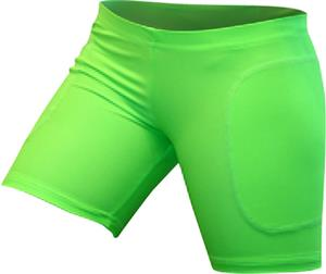 "Gem Gear Green Neon Softball Slider 5"" Inseam"