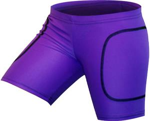 "Gem Gear Purple Neon Softball Slider 5"" Inseam"