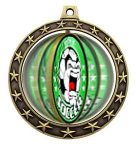 "Hasty Awards 2.75"" Spinner Soccer Medals M7701"