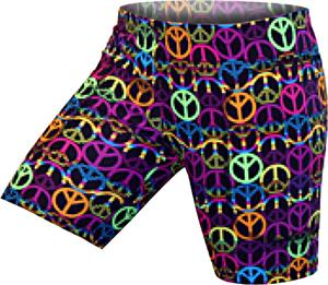 Gem Gear Neon Peace Sign Softball Slider 5&quot; Inseam