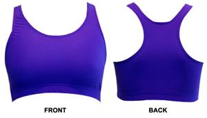Gem Gear Purple Neon Racer Back Sports Bra