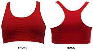 Gem Gear Red Racer Back Sports Bra