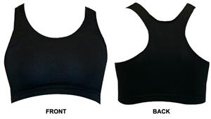 Gem Gear Black Racer Back Sports Bra
