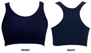 Gem Gear Navy Racer Back Sports Bra