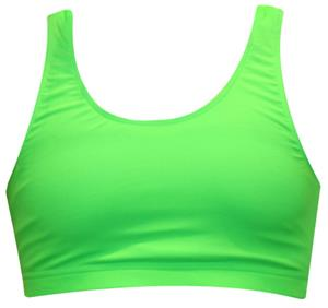Gem Gear Green Neon Racer Back Sports Bra