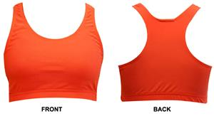 Gem Gear Orange Neon Racer Back Sports Bra