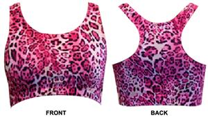 Gem Gear Pink Leopard Racer Back Sports Bra