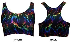 Gem Gear Lightning Bolt Racer Back Sports Bra