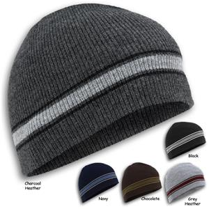 Wigwam Retro Stripe Winter Beanie Caps/Hats