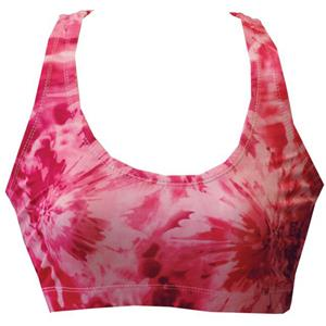 Fit 2 Win Annabelle Red Swirl Sports Bra