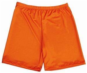 Miami Crazy Neon Orange Compression Shorts