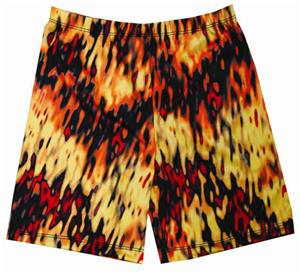Fit 2 Win Miami Crazy Inferno Compression Shorts