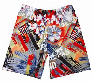 Fit 2 Win Miami Crazy Art Deco Compression Shorts
