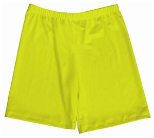 Miami Crazy Neon Yellow Compression Shorts