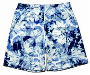 Miami Crazy Blue Tie Dye Compression Shorts