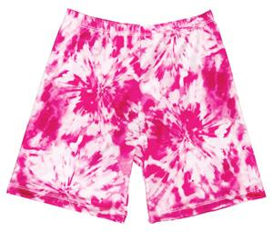 Fit2Win Miami Crazy Pink Tie Dye Compression Short