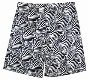 Fit 2 Win Miami Crazy Zebra Compression Shorts