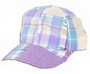 Fit 2 Win 100% Cotton Madras Ball Cap 5 Styles