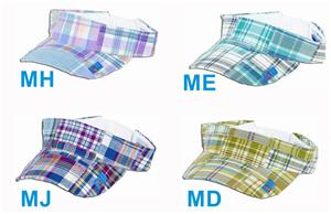 Fit 2 Win 100% Cotton Madras Visor 4 Styles