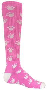 Red Lion PINK Paw Print Athletic Socks