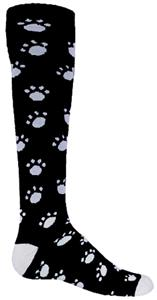 Red Lion Paw Print Athletic Socks