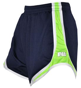 Fit 2 Win Womens Sprinter Navy Swiss Pique Shorts