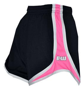 Fit 2 Win Women's Sprinter Black/Pink Pique Shorts
