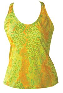 Fit 2 Win Isabelle Neon Leopard Sports Tank