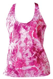 Fit 2 Win Isabelle Red Swirl Sports Tank